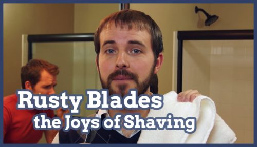 shaving, shave, joys of shaving, rusty razor blades