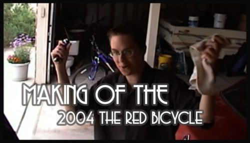 college filmmaking, red bicycle, comedic short, making of the red bicycle 2004