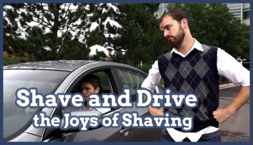 shave, shaving, shaving and driving, auto shave, joys of shaving