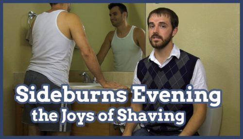 shave, shaving, sideburns, sideburns evening, evening out sideburns, joys of shaving